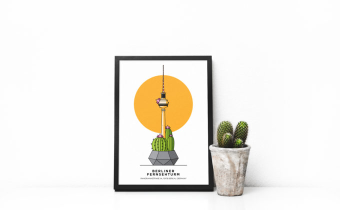 Fernsehturm, Berlin, Illustration