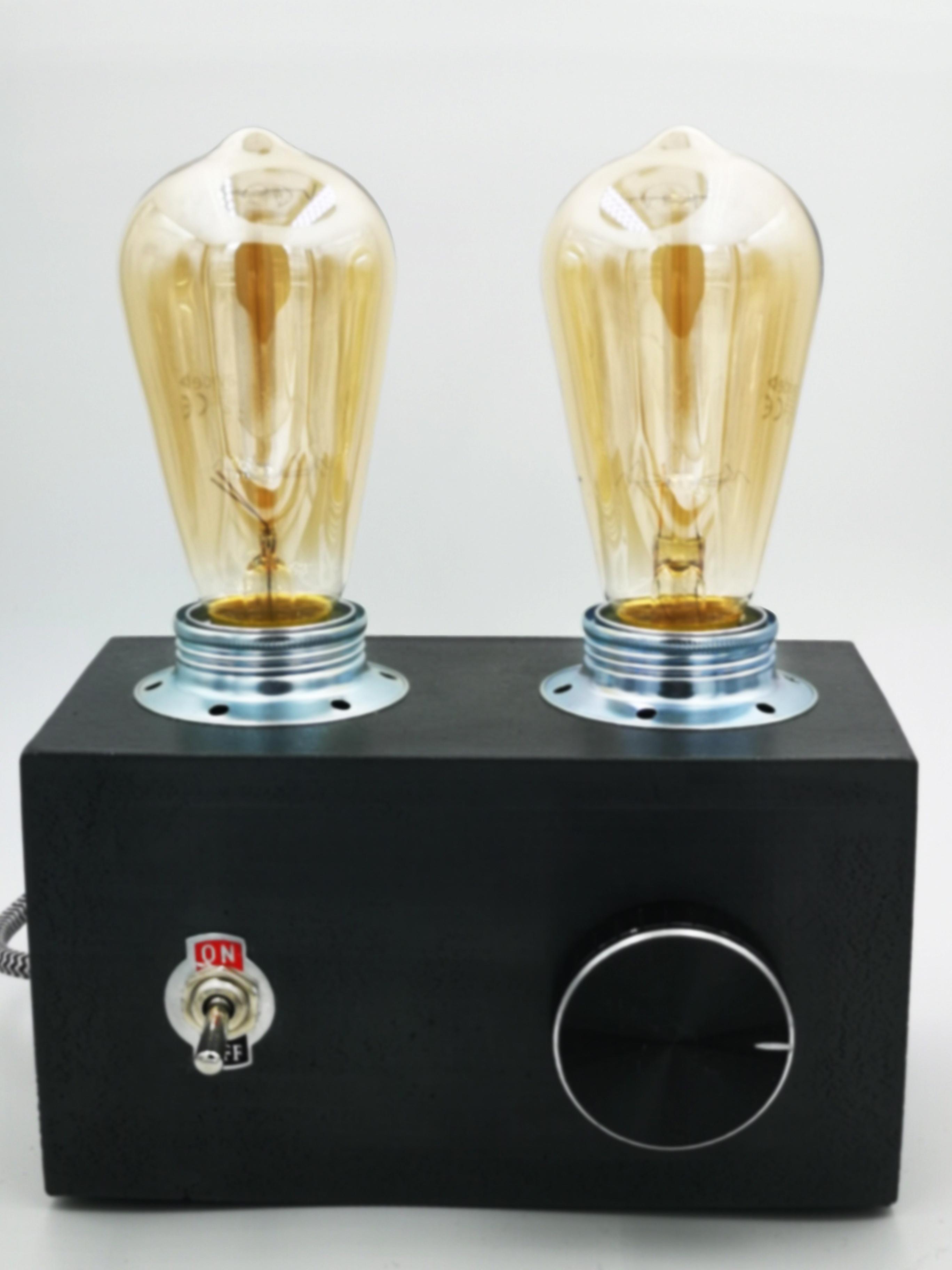 RADIO LAMP BLACK EDISon