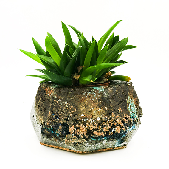 Concrete Planter Patina